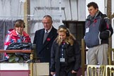 Lord Mayor's Show 2012: The BBC's Commentator Paul Dickenson with Floor Manager Charlotte Cummins on the balcony of Mansion House.. Press stand opposite Mansion House, City of London, London, Greater London, United Kingdom, on 10 November 2012 at 09:09, image #8