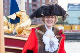 Lord Mayor's Show 2013: The Lord Mayor and Admiral of the Port of London, Alderman Fiona Woolf, on board of The Queen's Row Barge Gloriana. Photo by Mike Garland..     on 09 November 2013 at 08:37, image #11