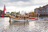 Lord Mayor's Show 2013: The Queen's Row Barge Gloriana setting off from Westminster Boating Base, carrying the Lord Mayor down the Thames from Westminster to the City. Photo by Mike Garland..     on 09 November 2013 at 08:39, image #12